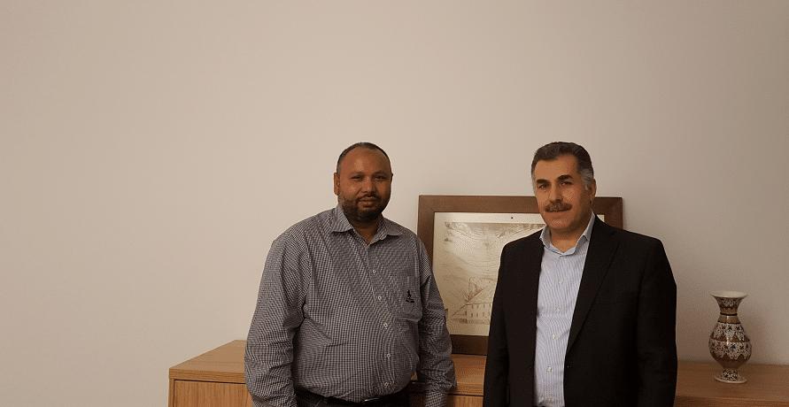 Austausch mit Herrn Ebu Hanif - austauschsgespraech